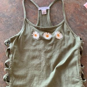 caged side tank top